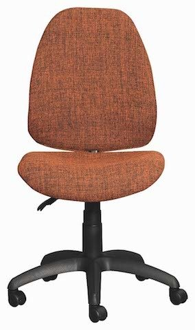 Orange Zoom Typist Chair