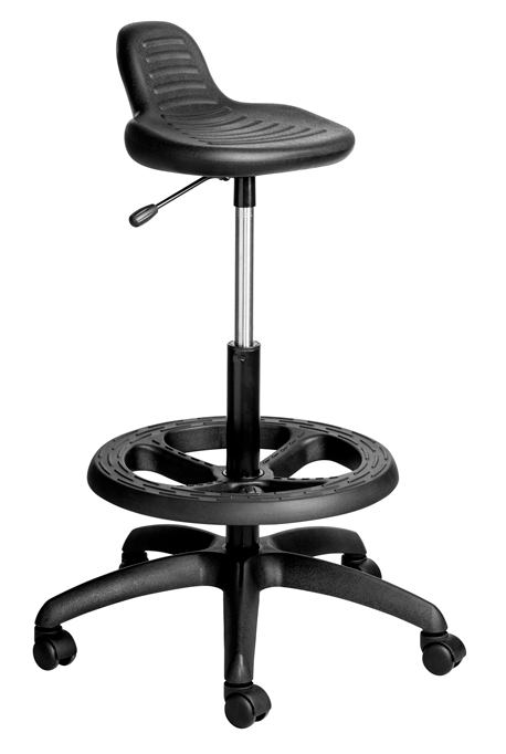 Black Draughtsman work stool