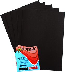 Black A4 paper