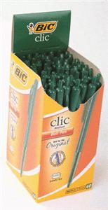green ballpoint pen
