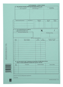 HORTORS - DEED LODGEMENT COVER & HIGH COURT FORMS K File