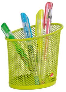 Desk pen holder green