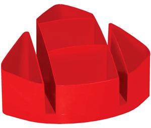 red desk organiser
