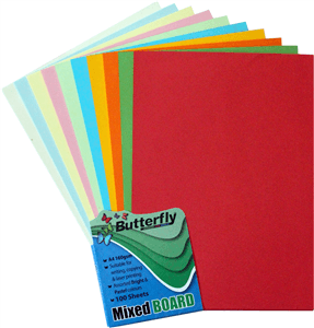 bright board assorted colours