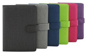 A5 linen notebooks