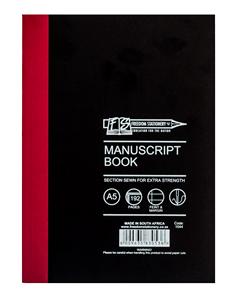 A5 manuscript book hard cover