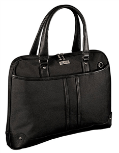 black shoulder sling laptop bag