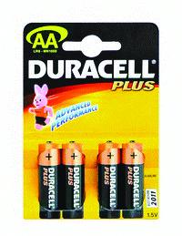 DURACELL - PLUS POWER ALKALINE BATTERIES AA