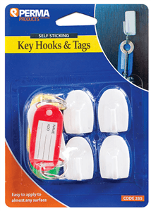 KEY HOOKS & TAGS Self Sticking