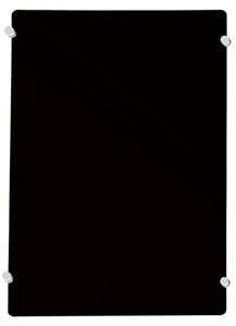 Black MAGNETIC GLASS WHITEBOARDS 1200 x 900mm