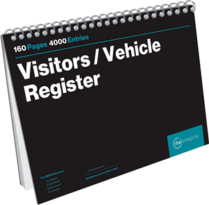 visitors vehicle register book