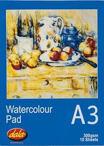 DALA - WATERCOLOUR PADS A3 10 Sheets
