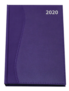 CTP - 2020 S-STITCH DIARIES A4 Page-a-Day - Purple