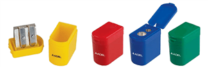ADEL - METAL TUB SHARPENER 2 Hole - Assorted