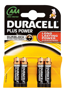 DURACELL - PLUS POWER ALKALINE BATTERIES AAA