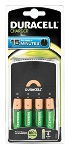 DURACELL - BATTERY CHARGER 15 Mins AA