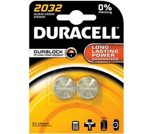 DURACELL - 3V LITHIUM COINS 2032