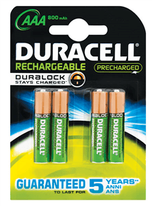 DURACELL - RECHARGEABLE BATTERIES Rechargeable 2400 MAH AA