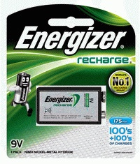 ENERGIZER - RECHARGEABLE BATTERIES & CHARGERS Rechargeable 9 Volt