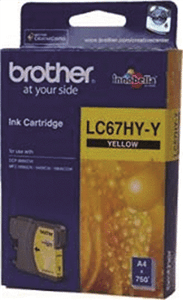 BROTHER INK - LC67YHY Hi Capacity Yellow