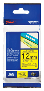 BROTHER - LAMINATED TZe TAPES 12mm x 8m