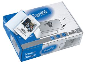 BANTEX - CONFERENCE BADGES 90mm x 55mm