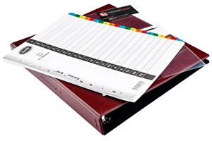 BUSINESS CARD ORGANISER BINDER