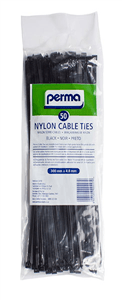 PERMA - CABLE TIES 300mm x 4.8mm - Black