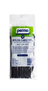 PERMA - CABLE TIES 150mm x 36mm - Black