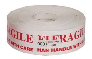 PACKAGING ROLLS Fragile H.W.C 45 x 90mm 1000 per roll