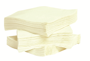 CUTLERY, SERVIETTES & PAPER TOWELS Serviettes White 1 Ply 300 x 300mm