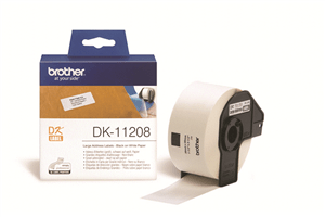 BROTHER - DK LABELS Address Large - Black on White