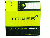 TOWER - WHITE ROLL LABELS 13 x 19mm