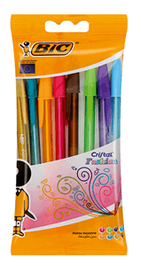 BIC - CRISTAL FASHION BALLPOINT PENS 1.2mm - Assorted