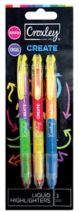CROXLEY - DUO CREATE LIQUID HIGHLIGHTERS 2mm-5mm - Assorted