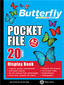 BUTTERFLY - DISPLAY BOOKS A2 20 Pocket