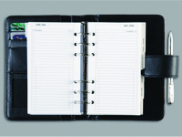 CTP - A5 PERSONAL ORGANISER Leather - Black