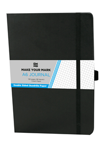 CTP - NOTEBOOKS/ JOURNALS A6 192 Page Quadrille - Black