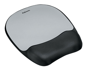 FELLOWES - MEMORY FOAM WRIST SUPPORT Mouse Pad - Grey