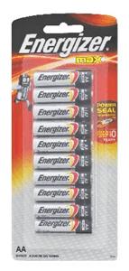 ENERGIZER - ALKALINE BATTERIES AA 10 Pack