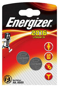ENERGIZER - BUTTON CELL BATTERIES CR2016 2 Pack