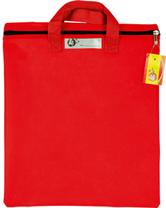 4 STATIONERY - LIBRARY BOOK BAG 370mm x 270mm - Red