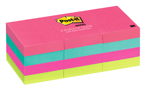 3M - POST-IT NOTES 34.9 x 47.6mm - Assorted