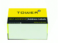 TOWER - WHITE ADDRESS LABELS 100 x 50mm - White 250 Pack